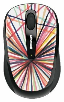 Мышь Microsoft Wireless Mobile Mouse 3500 Artist Edition Mike Perry - Design 1 White-Black USB