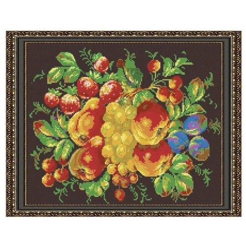 Светлица Набор для вышивания бисером Жостовские фрукты 38 х 30 см, бисер Чехия (541П)