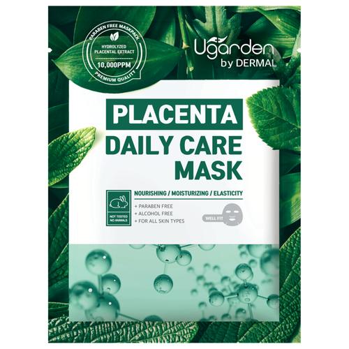 DERMAL Ugarden маска для лица на основе плаценты для ежедневного ухода, 23 гМаски<br>