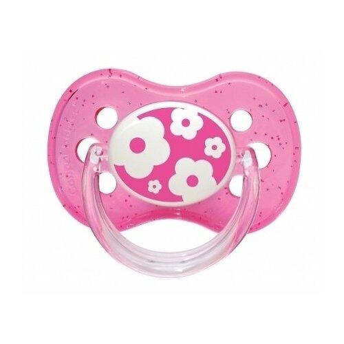 Купить Пустышка силиконовая классическая Canpol Babies Nature 0-6 м (1 шт) розовый, Пустышки и аксессуары
