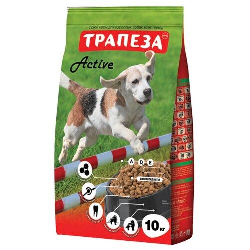 Корм для собак Трапеза (10 кг) Актив для взрослых собак средних пород с повышенной физической активностью