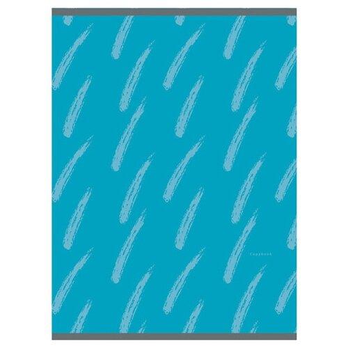 Купить Канц-Эксмо Тетрадь для конспектов в клетку, 48 л., Штрихи на голубом, Тетради