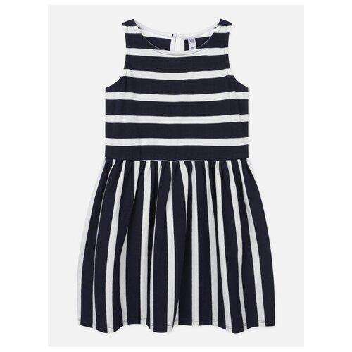 Платье playToday размер 110, белый/синий