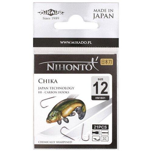 Крючок MIKADO Chika №12 черный никель (21 шт.)