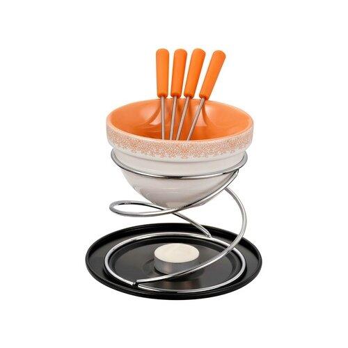GIPFEL Набор для приготовления шоколадного фондю Minor на 4 персоны, 8 предметов оранжевый