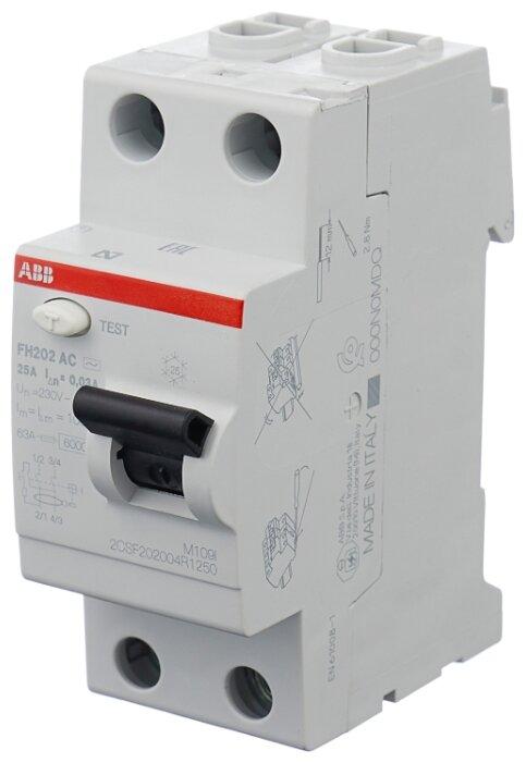 ABB FH202AC УЗО 2P 25A 30mA (AC) 2CSF202004R1250