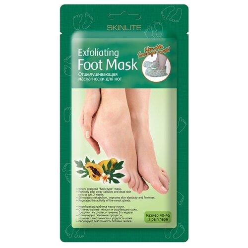 Фото - Skinlite Маска-носки для ног Отшелушивающая размер 40-45 40 мл estelare foot peeling program маска отшелушивающая для ног педикюрные носочки 40 г