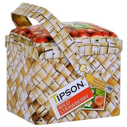 Чай черный Tipson Basket collection Wild strawberry подарочный набор, 80 гЧай<br>