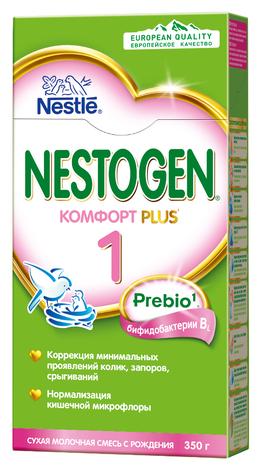 Смесь Nestogen (Nestlé) 1 Комфорт Plus (с рождения) 350 г — цены на Яндекс.Маркете