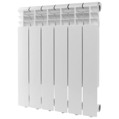 Радиатор секционный алюминий ROMMER Profi AL 500 x6 подключение универсальное боковое RAL 9016 биметаллический радиатор rifar рифар b 500 нп 10 сек лев кол во секций 10 мощность вт 2040 подключение левое