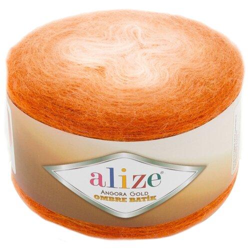Купить Пряжа Alize Angora Gold Ombre Batik, 20 % шерсть, 80 % акрил, 150 г, 825 м, 7296 оранжевый