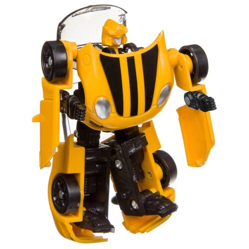 Купить Робот-трансформер BONDIBON Мы роботы, космические машины ВВ3258 желтый, Роботы и трансформеры