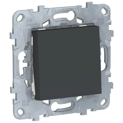 Переключатель (с 2-х мест) Schneider Electric NU520354, антрацит переключатель schneider electric 22мм 2 позиции черный xb5ad21