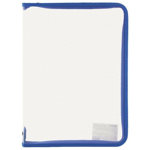 Купить Пифагор Папка для тетрадей А4, на молнии, прозрачная синий, Файлы и папки