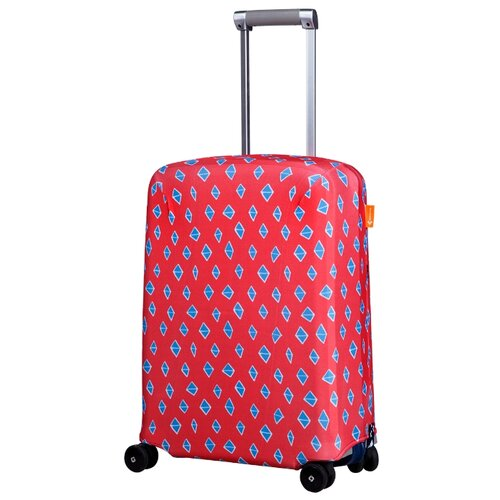 Чехол для чемодана ROUTEMARK «Ромбик в красном» ART.LEBEDEV SP240 S, красный чехол для чемодана routemark искры и блестки art lebedev sp310 s фиолетовый