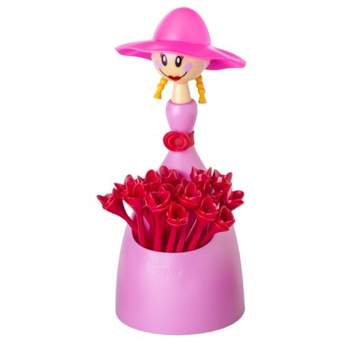 Vigar Палочки для канапе DOLLS пластик (15 шт.) розовый/красный