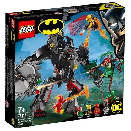 Конструктор LEGO DC Super Heroes 76117 Робот Бэтмена против робота Ядовитого Плюща конструктор lego super heroes mighty micros 76070 чудо женщина против думсдэя