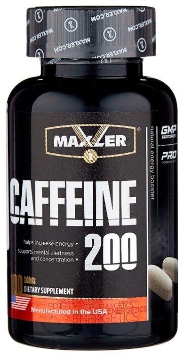 Предтренировочный комплекс Maxler Caffeine 200 (100 шт.) натуральный
