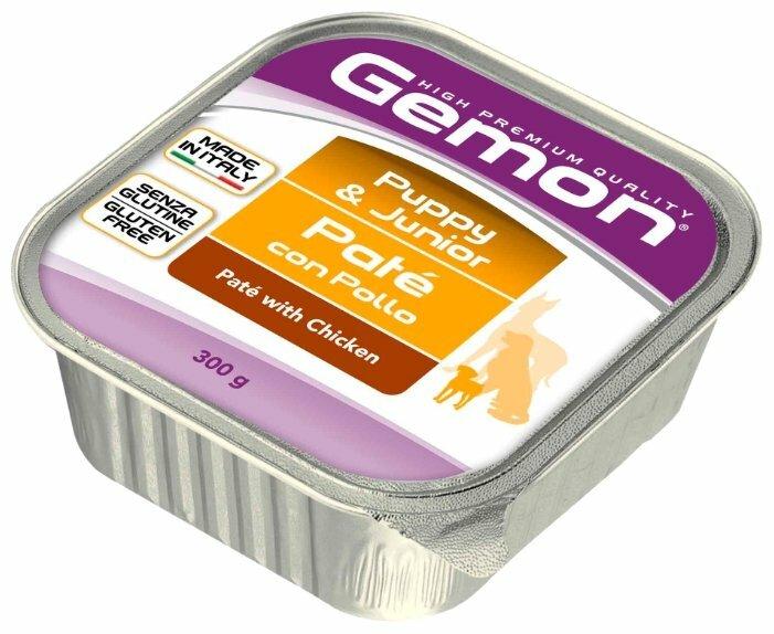 Корм для собак Gemon Паштет с курицей для щенков и юниоров (0.3 кг) 3 шт.