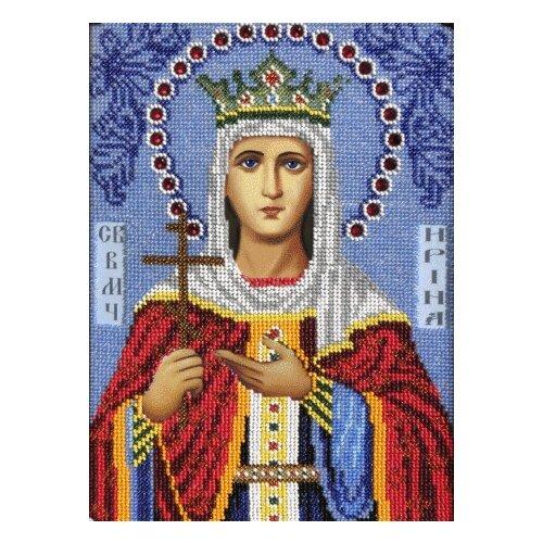 Вышиваем бисером Набор для вышивания бисером Святая Ирина 19 х 27 см (L-30) набор для вышивания иконы вышиваем бисером l 68 святой пантелеймон целитель