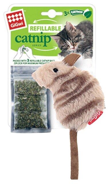Игрушка для кошек GiGwi Refillable catnip Мышка (75382)