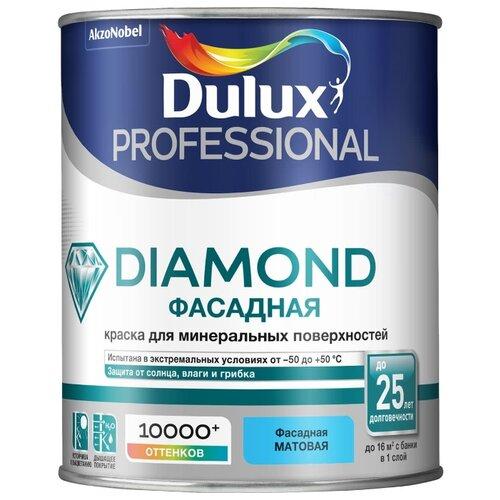 Фото - Краска акриловая Dulux Diamond Фасадная Гладкая влагостойкая матовая бесцветный 0.9 л краска акриловая alpina долговечная фасадная влагостойкая матовая бесцветный 2 35 л