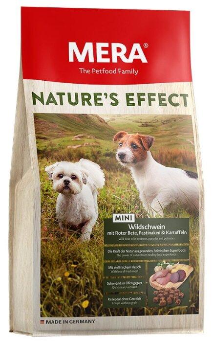 Корм для собак Mera Nature's Effect Mini с диким кабаном, свеклой, пастернаком и картошкой для взрослых собак