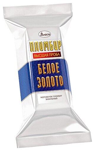 Мороженое пломбир Белое Золото ванильный, 220 г