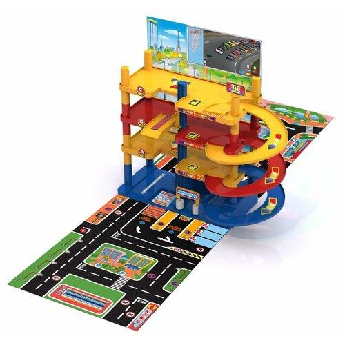 Купить Нордпласт Городской паркинг синий/желтый/красный, Детские парковки и гаражи