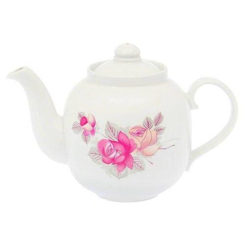 Дулёвский фарфор Заварочный чайник Янтарь 700 мл Дикая роза
