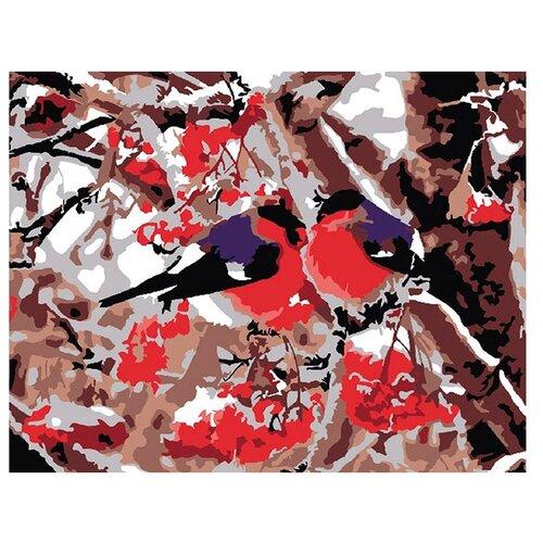 Купить Molly Картина по номерам Снегири 15х20 см (KH0043/1), Картины по номерам и контурам