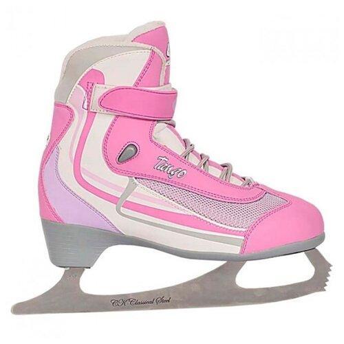 Женские прогулочные коньки СК (Спортивная коллекция) Tango розовый р. 41 фото