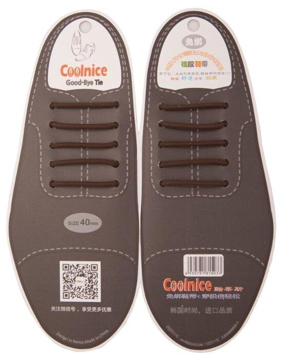 Шнурки для обуви Coolnice 30378 коричневый