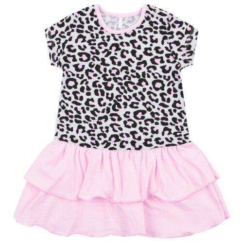Платье Leader Kids размер 98, серый/розовый