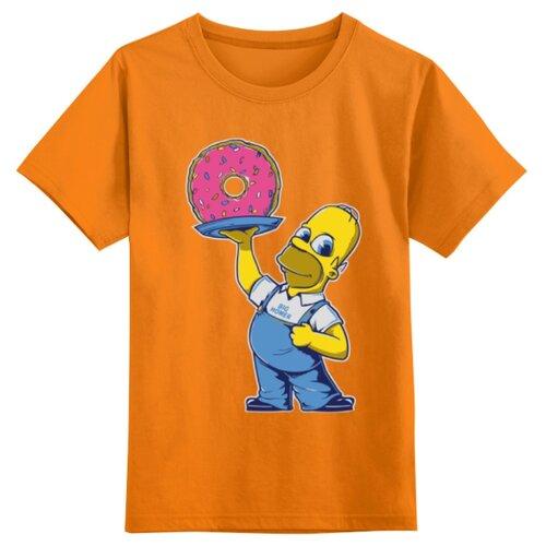 Купить Футболка Printio размер 4XS, оранжевый, Футболки и майки