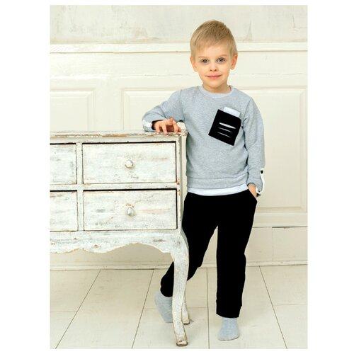 Купить Комплект одежды Дашенька размер 98, серый/черный, Комплекты и форма