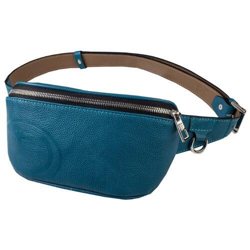 Сумка поясная Dimanche, натуральная кожа, синий сумка поясная dimanche натуральная кожа красный