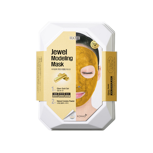 Купить Konad Моделирующая альгинатная маска с золотом для придания коже блеска и сияния Iloje Jewel Modeling Mask, 55 г