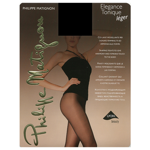 Колготки Philippe Matignon Elegance Tonique leger 15 den nero 4-L (Philippe Matignon)Колготки и чулки<br>