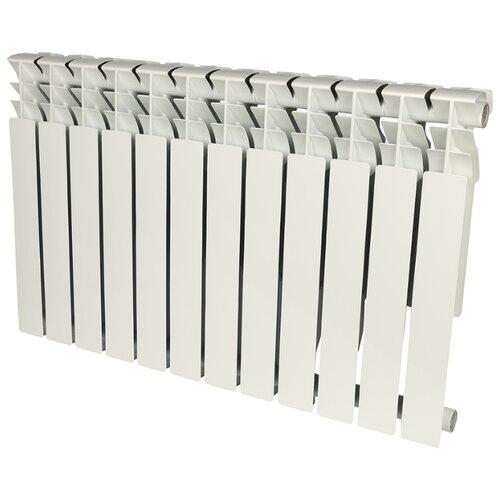 Радиатор секционный алюминий ROMMER Al Plus 500 x12 подключение универсальное боковое RAL 9016 биметаллический радиатор rifar рифар b 500 нп 10 сек лев кол во секций 10 мощность вт 2040 подключение левое