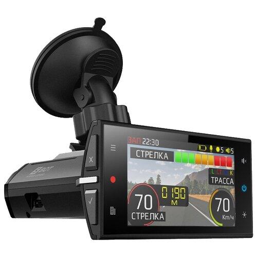 Видеорегистратор с радар-детектором SilverStone F1 HYBRID S-BOT, GPS черный видеорегистратор silverstone f1 hybrid uno a12 s