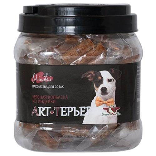 Фото - Лакомство для собак Green Qzin Miniki Art-терьер, колбаски с мясом индейки, 520 г лакомство для собак green qzin miniki гибкость мягкие утиные хрящики для мини пород 260 г