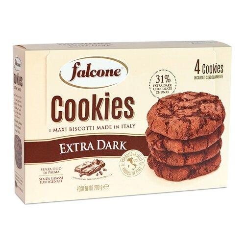 Печенье FALCONE Extra dark с тёмным шоколадом, 200 г