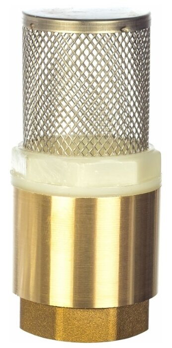 Обратный клапан пружинный КАЛИБР 30492 муфтовый (ВР/ВР), латунь с фильтром