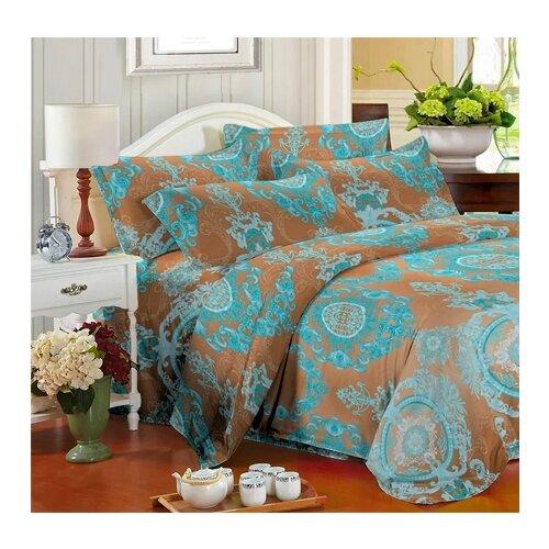 Постельное белье 2-спальное с евро простыней Toontex 3480 полисатин постельное белье dome lilith евро стандарт