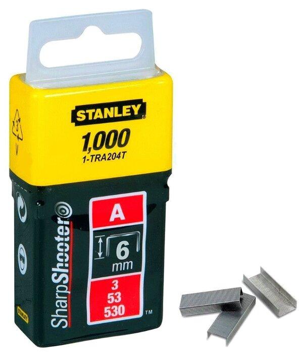 Скобы STANLEY 1-TRA204T тип 53 для степлера, 6 мм