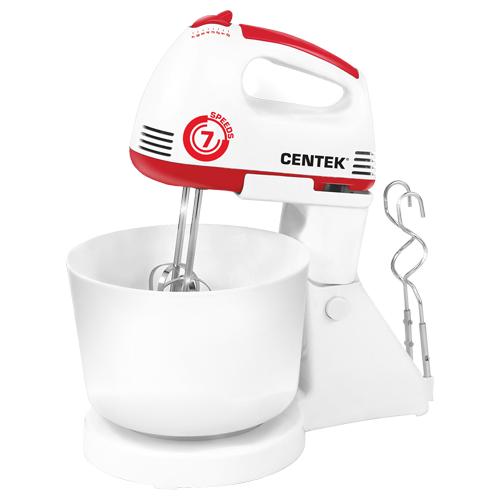 Миксер CENTEK CT-1113, белый/красный миксер centek ct 1118