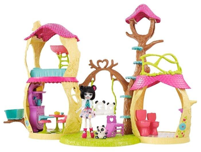 Набор с куклой Enchantimals Лесной домик, 15 см, FCG94