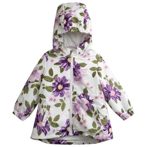 Куртка playToday размер 74, белый с цветочным принтомКуртки и пуховики<br>