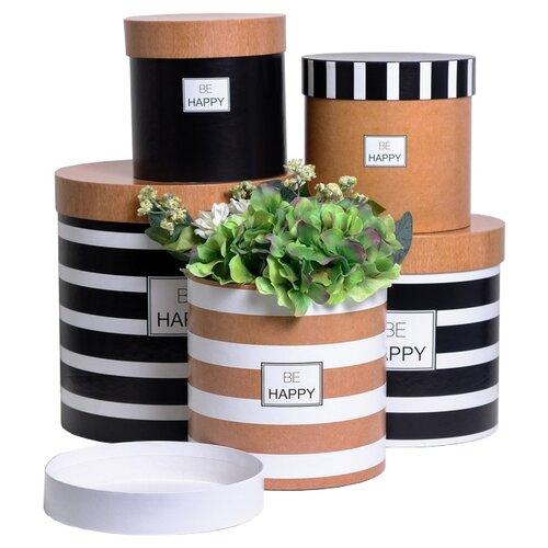 Фото - Набор подарочных коробок Дарите счастье Крафт 5 шт. бежевый/белый/черный набор подарочных коробок дарите счастье универсальный 10 шт бежевый белый черный